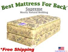 Twin XXL Supreme, Best Mattress For Back